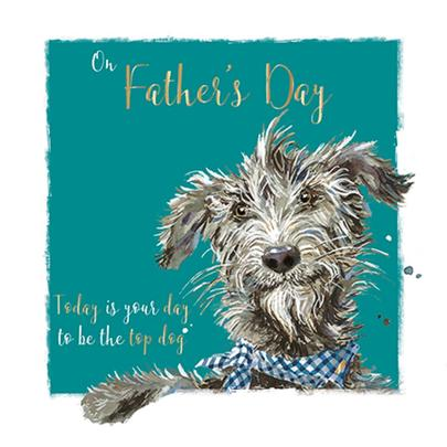 Be The Top Dog Father's Day Greeting Card