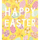 Pack of 5 Colourful Eggs Happy Easter Greetings Cards