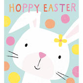 Pack of 5 Cute Bunny Hoppy Easter Greetings Cards
