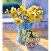 Pack of 5 Lovely Daffodils Easter Greetings Cards