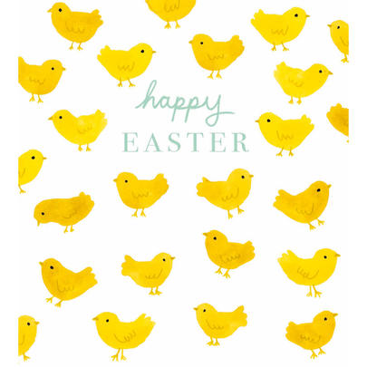 Pack of 5 Cute Chicks Happy Easter Greetings Cards