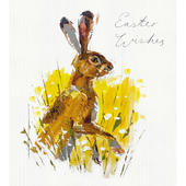 Pack of 5 Spring Hare Easter Wishes Greetings Cards