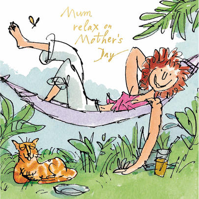 Quentin Blake Mum Relax Mother's Day Greeting Card