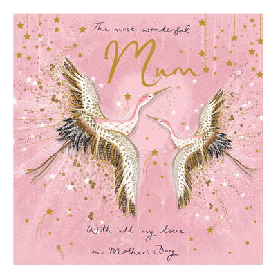 Most Wonderful Mum Mother's Day Greeting Card