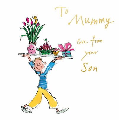 Quentin Blake Love From Your Son Mother's Day Greeting Card