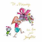 Quentin Blake From Your Daughter Mother's Day Greeting Card