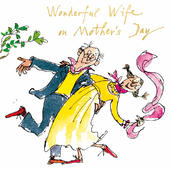 Quentin Blake Wonderful Wife Mother's Day Greeting Card