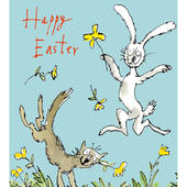 Quentin Blake Happy Easter Single Mini Easter Greeting Card