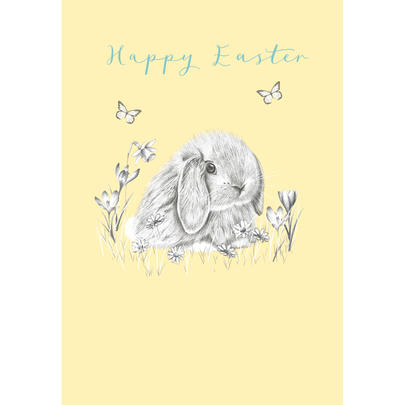 Happy Easter Cute Bunny Easter Greeting Card