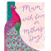 Mum With Love On Mother's Day Greeting Card