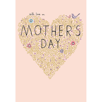 With Love Gold Foiled Mother's Day Greeting Card