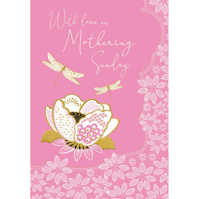 With Love On Mothering Sunday  Foiled Mother's Day Greeting Card
