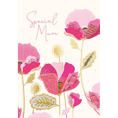 Special Mum Gold Foiled Mother's Day Greeting Card