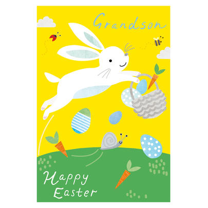Happy Easter Grandson Easter Greeting Card