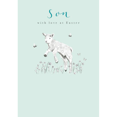 Son With Love Spring Lamb Easter Greeting Card