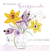 To Lovely Grandparents At Easter Time Easter Greeting Card