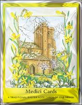 Pack of 4 Easter Church Mini Medici Happy Easter Greeting Cards