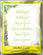 Pack of 4 Hallelujah Mini Medici Happy Easter Greeting Cards