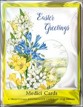 Pack of 4 Easter Greetings Mini Medici Happy Easter Greeting Cards