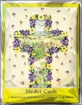 Pack of 4 Easter Spring Mini Medici Happy Easter Greeting Cards
