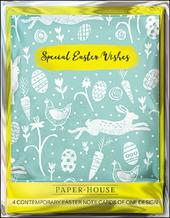 Pack of 4 Special Easter Wishes Mini Happy Easter Greeting Cards