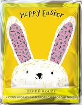 Pack of 4 Cute Bunny Mini Happy Easter Greeting Cards