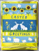 Pack of 4 Easter Greetings Mini Happy Easter Greeting Cards