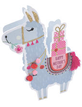 Llama Happy Mother's Day 3D Paper Dazzle Greeting Card