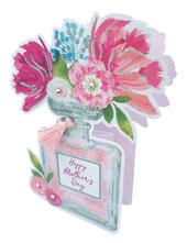 Perfume Happy Mother's Day 3D Paper Dazzle Greeting Card
