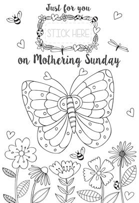 Just For You Nana Colour-Me-In Mother's Day Greeting Card With Stickers