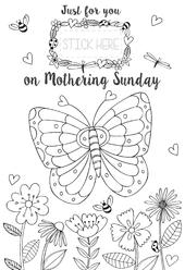 Just For You Mum Colour-Me-In Mother's Day Greeting Card With Stickers