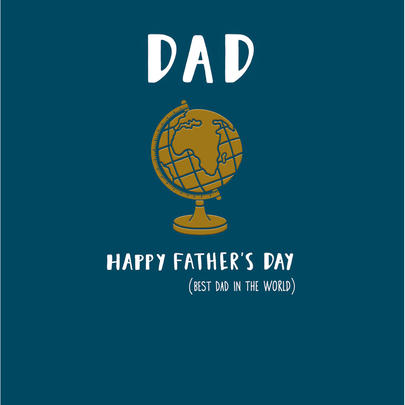 Best Dad In The World Happy Father's Day Greeting Card