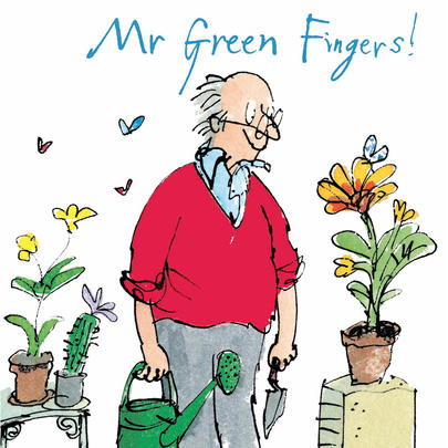 Quentin Blake Mr Green Fingers Father's Day Greeting Card