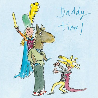Quentin Blake Daddy Time Father's Day Greeting Card
