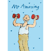 Quentin Blake Mr Amazing Father's Day Greeting Card