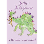 Quentin Blake Bestest Daddysaurus Father's Day Greeting Card