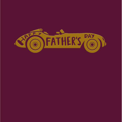 Vintage Car Foiled Happy Father's Day Greeting Card