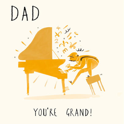 Dad You're Grand Happy Father's Day Greeting Card