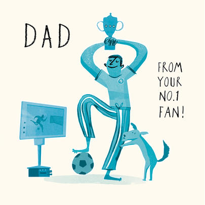 Dad From Your No.1 Fan Happy Father's Day Greeting Card