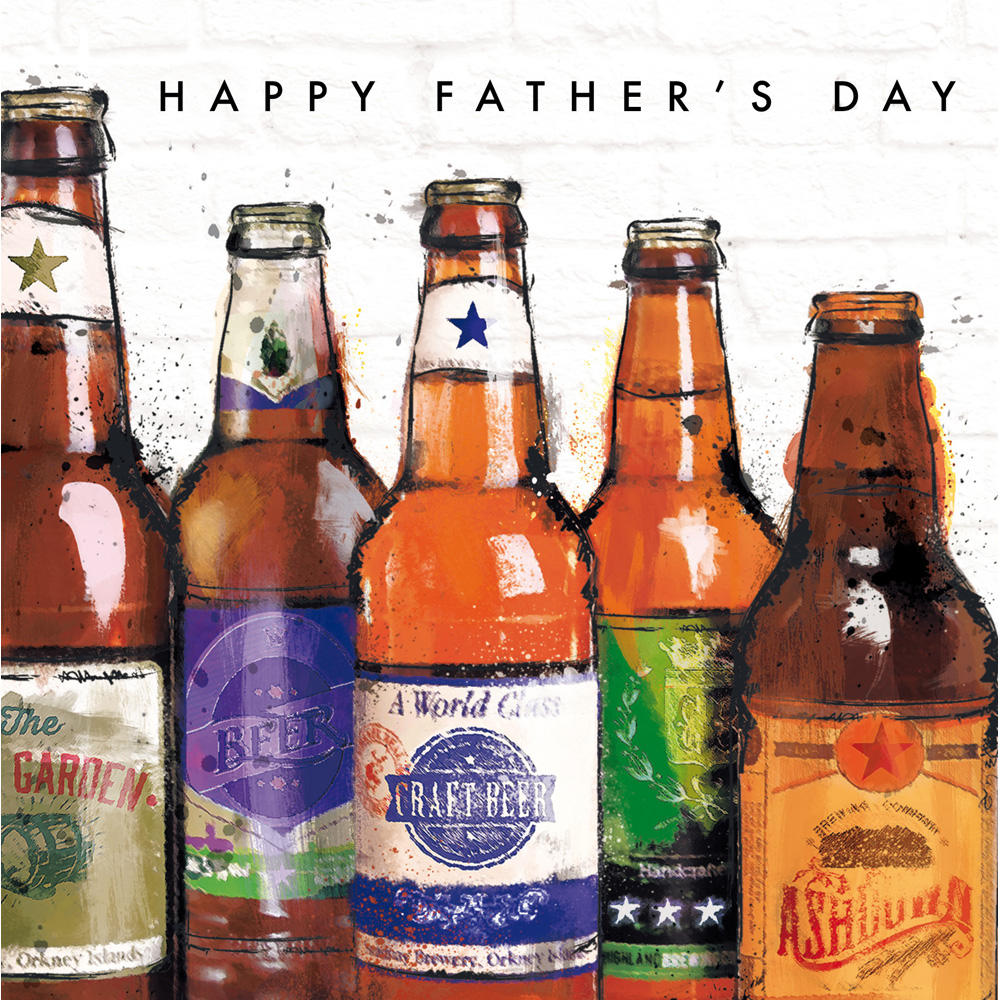 Bottled Beer Fan Happy Father's Day Greeting Card