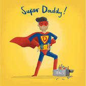Super Daddy Happy Father's Day Greeting Card