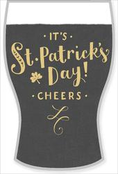 Stout Pint Shaped Die Cut St Patrick's Day Greeting Card
