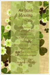 An Irish Blessing Happy St Patrick's Day Greeting Card