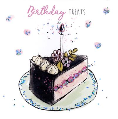 Birthday Treats Happy Birthday Hand-Finished Greeting Card