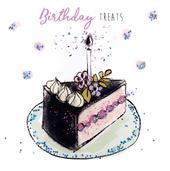 Birthday Treats Happy Birthday Hand-Finished Greeting Card