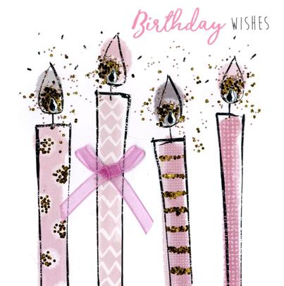 Birthday Wishes Happy Birthday Hand-Finished Greeting Card