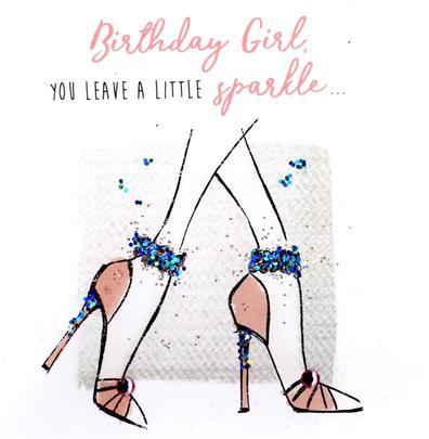 Birthday Girl Happy Birthday Hand-Finished Greeting Card