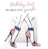 Birthday Girl Happy Birthday Hand-Finished Greeting Card
