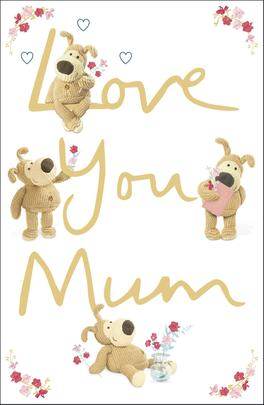 Boofle Love You Mum Mother's Day Greeting Card