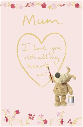 Boofle Mum With All My Heart Mother's Day Greeting Card